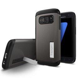 Чехол-накладка для Samsung Galaxy S7 Spigen Slim Armor (555CS20012) (стальной)