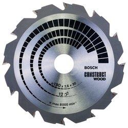 Пильный диск по дереву Bosch Construct Wood 2608640633