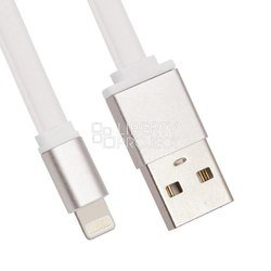 Кабель USB - Lightning для Apple iPhone 5, 5C, 5S, 6, 6 plus, 6S, 6S Plus, iPad 4, Air, Air 2, Pro 9.7, Pro 12.9, PRO, mini 1, mini   2, mini 3, mini 4 (LP 0L-00027915) (белый)