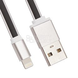 Кабель USB - Lightning для Apple iPhone 5, 5C, 5S, 6, 6 plus, 6S, 6S Plus, iPad 4, Air, Air 2, Pro 9.7, Pro 12.9, PRO, mini 1, mini 2, mini 3, mini 4 (LP 0L-00027914) (черный)