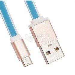 Дата-кабель microUSB - USB (LP 0L-00027911) (голубой)