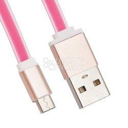 Дата-кабель microUSB - USB (LP 0L-00027910) (розовый)