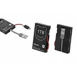 USB Hub 3 порта + кабель micro B USB 2.0 (OXION OHB006BK) (черный)