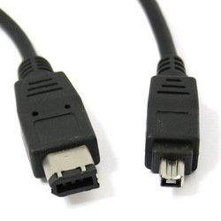 Кабель FireWire IEEE-1394 4P-6P 1.8м (SmartBuy KA118-50) (черный)