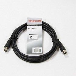 Антенный кабель ТВ-М-ТВ-M (Telecom TTV9555-2M) (черный)