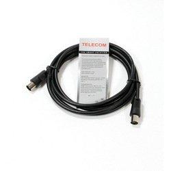 Антенный кабель ТВ-М-ТВ-F (Telecom TTV9501-3M) (черный)