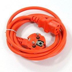 Кабель питания 3pin (f) - евровилка (VCOM CE021-CU0.75-1.8M-O) (оранжевый)