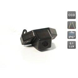CCD штатная камера заднего вида с динамической разметкой для Honda CRV III (2006-2012), Jazz (2008-...), Crosstour (AVIS AVS326CPR (#022))