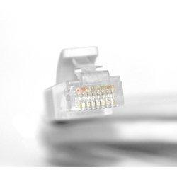 Патч-корд UTP кат.5е, RJ45 15m (Greenconnect GCR-LNC03-C-15.0m) (белый/серый)