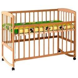 Гойдалка Кроватка с подвижной боковиной, дугами и колесами