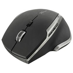 trust evo advanced wireless compact laser mouse black usb