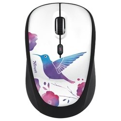 trust yvii wireless mouse bird black-white usb