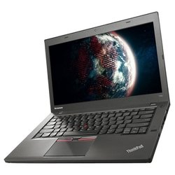 "lenovo thinkpad t450 ultrabook (intel core i5 5300u 2300 mhz/14.0""/1366x768/4.0gb/500gb/dvd нет/intel hd graphics 5500/wi-fi/bluetooth/win 7 pro 64)"