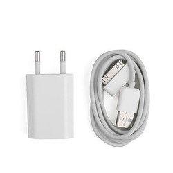 Сетевое зарядное устройство 1,2A + кабель USB 30pin для Apple iPhone 2, 3, 4 (М0038384) (белый)