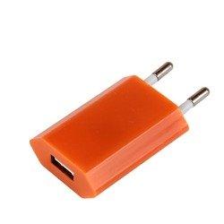 Универсальное сетевое зарядное устройство USB 1,2A (М0942531) (оранжевый)