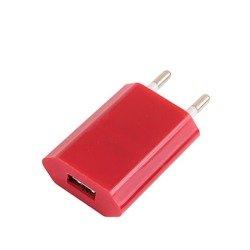 Универсальное сетевое зарядное устройство USB 1,2A (М0941854) (розовый)