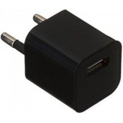 Универсальное сетевое зарядное устройство USB 1,2A (М0941856) (черный)