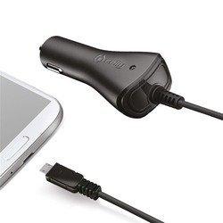 Автомобильное зарядное устройство microUSB (Celly CCMICRO) (черный)