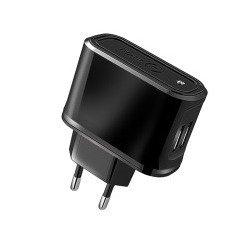 Универсальное сетевое зарядное устройство USB (Celly TCUSB22) (черный)