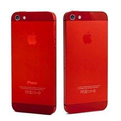 Корпус для Apple iPhone 5 + держатель sim (М0944863) (красный, вставки красные)