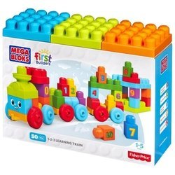 Mega Bloks First Builders DKX60 Поезд с цифрами