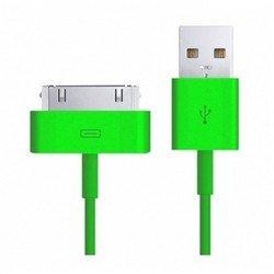 Дата-кабель USB - 30-pin для Apple iPhone 3GS, 4, 4S, iPad 2, 3 new, iPod Nano 6, touch 4 (Smartbuy iK-412c) (зеленый)