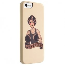 чехол-накладка для apple iphone 5, 5s, se benjamins boxer tattoo hard case