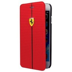 чехол-книжка для apple iphone 6, 6s (ferrari formula one booktype fefocflbkp6re) (красный)