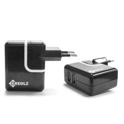 Универсальное зарядное устройство Kreolz PAU-220 (черный)