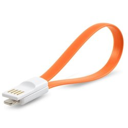 Дата-кабель USB - Lightning для Apple iPhone 5, iPad Mini, iPad 4, iPod Touch 4th (iMee Mono Lightning IMMOLCBE) (магнитный, оранжевый)