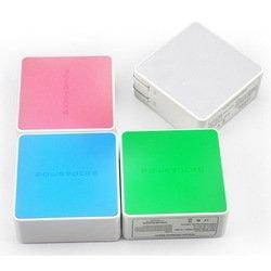 Сетевое зарядное устройство Powerocks Tetris 2хUSB 3000mAh (голубой)