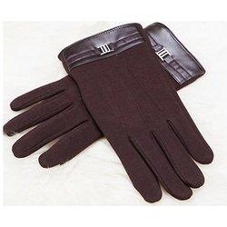 Перчатки для сенсорных экранов iCasemore (с пряжкой, коричневый)