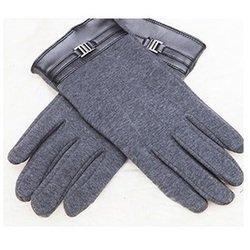 Перчатки для сенсорных экранов iCasemore (с пряжкой, серый)