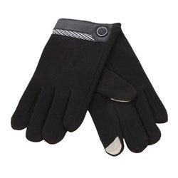 Перчатки для сенсорных экранов iCasemore (с кнопкой, черный)