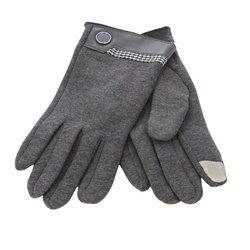 Перчатки для сенсорных экранов iCasemore (с кнопкой, серый)