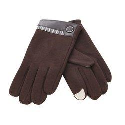 Перчатки для сенсорных экранов iCasemore (с кнопкой, коричневый)
