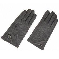 Перчатки для сенсорных экранов iCasemore (2 пальца) (с декором, серый)