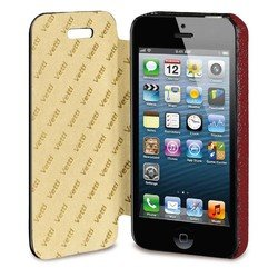 чехол-книжка для apple iphone 5, 5s (vetti craft horicover) (красный)