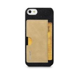 чехол-накладка для apple iphone 5, 5s (vetti craft prestige card holder) (black & vintage khaki)