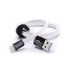Дата-кабель Lightning - USB для Apple iPhone 5, 5C, 5S, SE, 6, 6 Plus, 6S, 6S Plus, 7, 7Plus, iPad 4, Air, Air 2, Pro 9.7, Pro 12.9, PRO, mini 1, mini 2, mini 3, mini 4 (Zetton Life Style Flat ZTLSUSBFCA8BW) (плоский, белый, черный) - Usb, hdmi кабель, переходникUSB-, HDMI-кабели, переходники<br>Разъемы USB - Lightning, длина 0.9 м. Кабель позволит подключить к USB персонального компьютера любые устройства с разъемом Lightning 8-pin.<br>