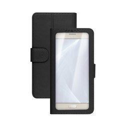 """Универсальный чехол-книжка для телефонов 4.5-5"""" (Celly Wally Unica View UNICAVIEWXLBK) (черный)"""
