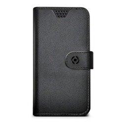"""Универсальный чехол-книжка для телефонов 3.5-4"""" (Celly Wally Unica WALLYUNIMBK) (черный)"""