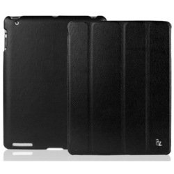 Чехол для Apple iPad 2, iPad 3 new, iPad 4 (Jison Smart Leather Case) (черный)