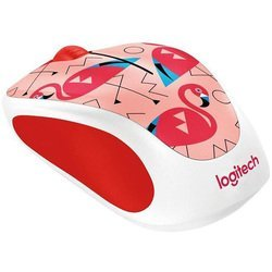 logitech m238 party collection flamingo usb (910-004709) (рисунок)