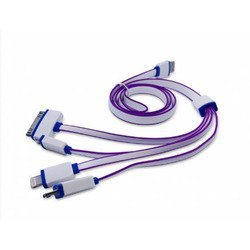 Дата-кабель USB-Lightning, Apple 30 pin, microUSB, Micro USB 3.0 для Apple iPhone 5, 5C, 5S, 6, 6 plus, iPad 4, Air, Air 2, mini 1, mini 2, mini 3 (Human Friends Navy) (фиолетовый)