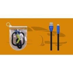 Кабель USB-microUSB (OXION OX-DCC019BL) (голубой)