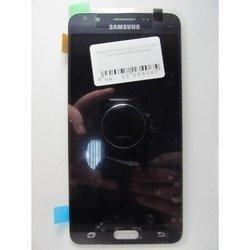 Дисплей с тачскрином для Samsung Galaxy J5 2016 в рамке (99047) (черный) (1 категория Q)