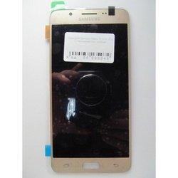 Дисплей с тачскрином для Samsung Galaxy J7 2016 в рамке (99051) (золотистый) (1 категория Q)