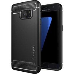 Чехол-накладка для Samsung Galaxy S7 (Spigen Rugged Armor) (555CS20007) (черный)