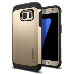 чехол-накладка для samsung galaxy s7 spigen tough armor (555cs20019) (шампань)